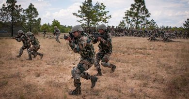 Indian Army soldiers with the 99th Mountain Brigade's 2nd Battalion, 5th Gurkha Rifles. U.S. Army photo by Sgt. Michael J. MacLeod, Wikipedia Commons.