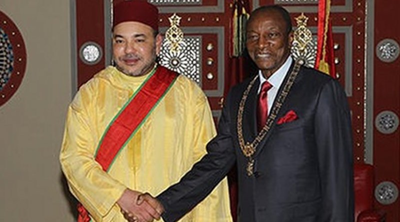 Morocco's King Mohammed VI and the President of the Republic of Guinea Alpha Condé.