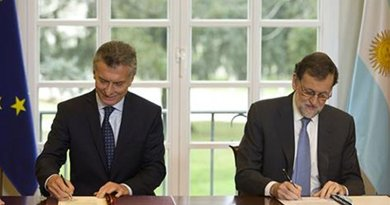 President of the Republic of Argentina, Mauricio Macri, and the Prime Minister of Spain, Mariano Rajoy. Photo Credit: Pool Moncloa/ Diego Crespo.