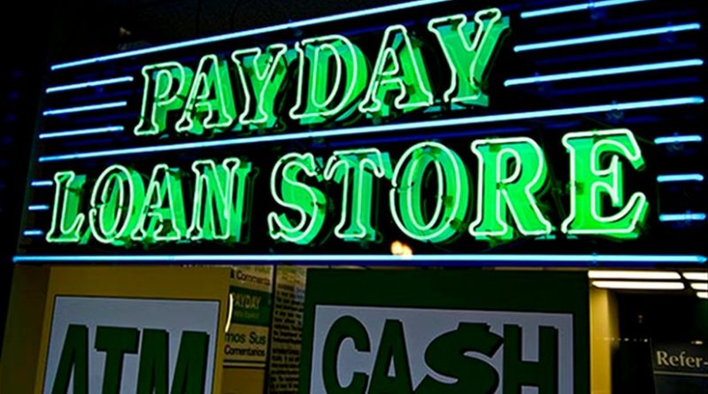 A Payday loan store in Texas. Photo by Aliman Senai, Wikimedia Commons.