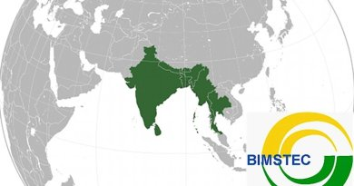 Map of countries belonging to the Bay of Bengal Initiative for Multi-Sectoral Technical and Economic Cooperation (BIMSTEC). Source: Wikipedia Commons.
