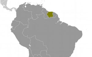 Location of Suriname. Source: CIA World Factbook.