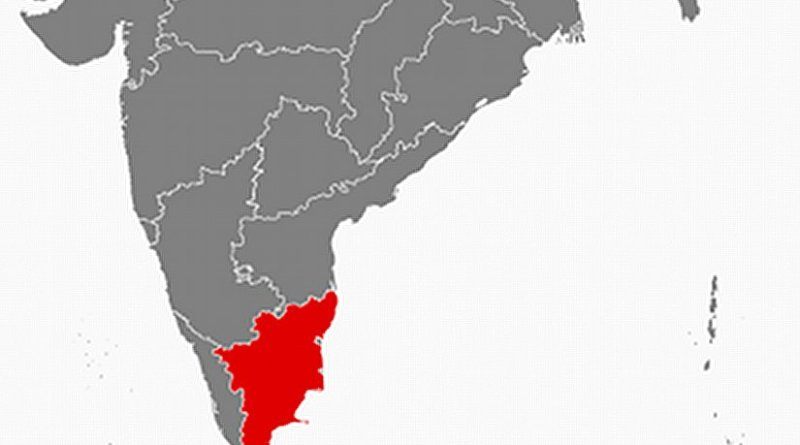 Location of Tamil Nadu in India. Source: Wikipedia Commons.