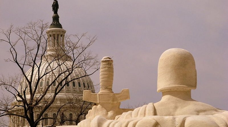 The United States Capitol dome as seen from the Supreme Court Building. Photo by Debaird, Wikipedia Commons.