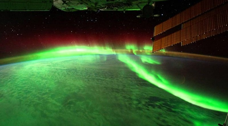 Northern lights were photographed from the International Space Station, ISS. Credit ESA