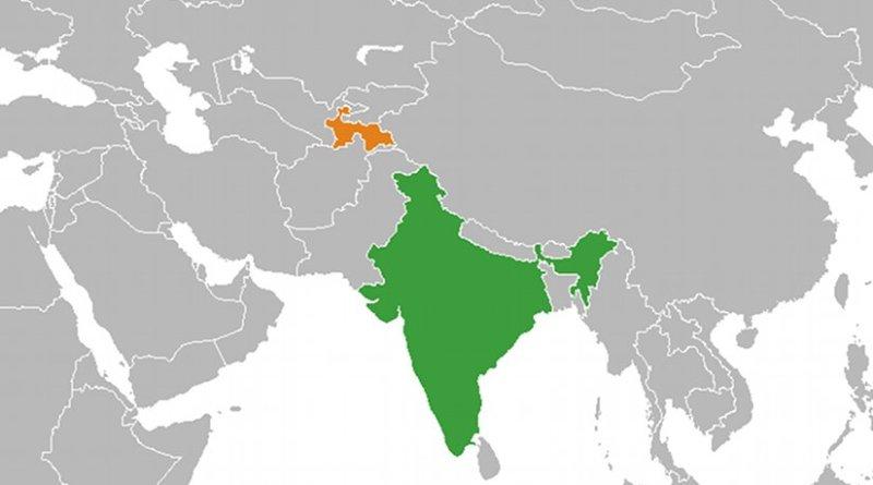 Locations of India and Tajikistan. Source: Wikipedia Commons.
