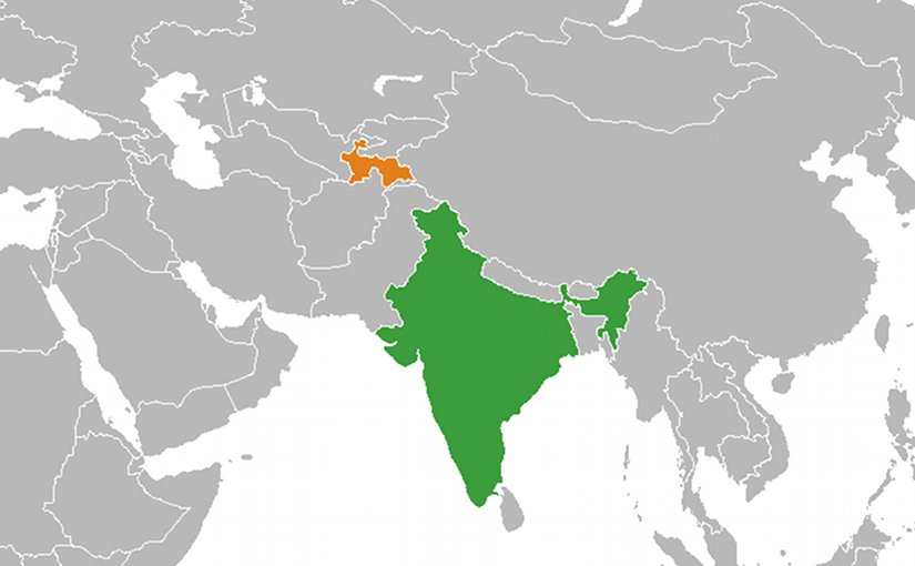 Locations of India and Tajikistan. Source: Wikipedia Commons.