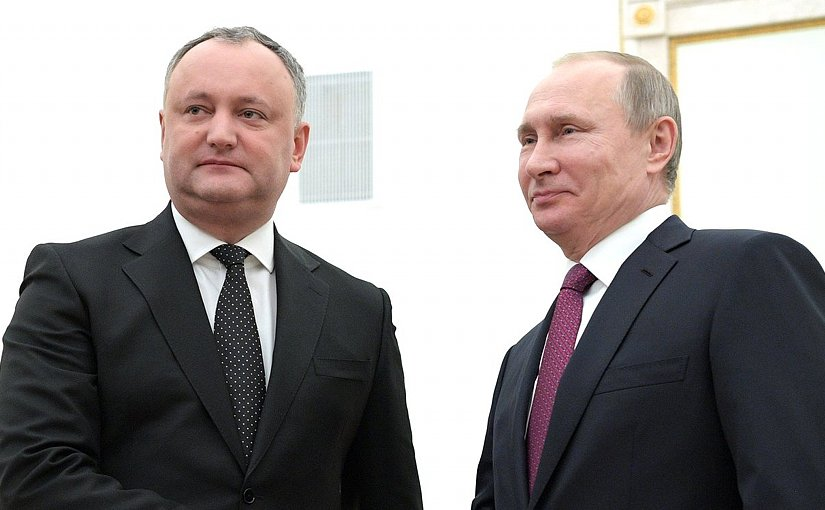 Moldova's President Igor Dodon with Russia's President Vladimir Putin. Source: Kremlin.ru