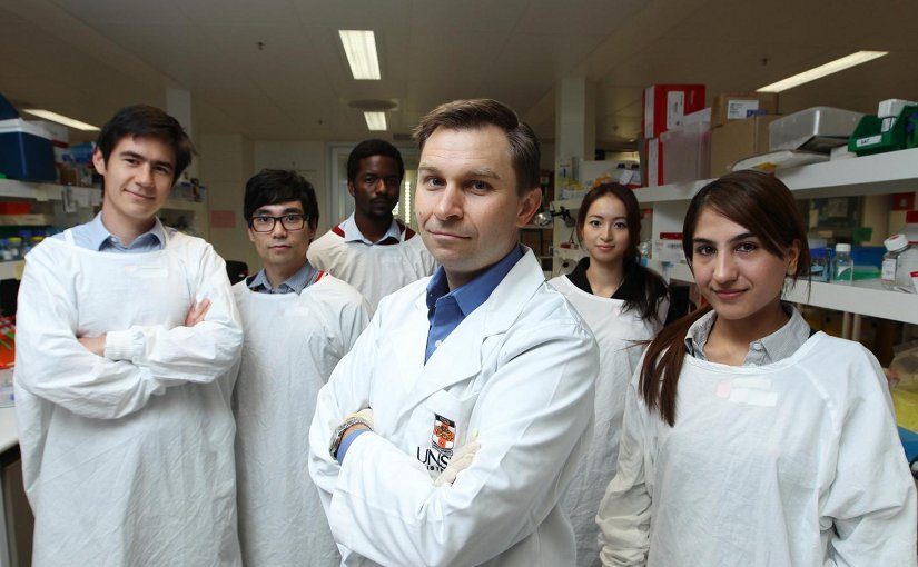 his is professor David Sinclair and his UNSW team. Credit Britta Campion