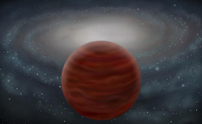 An artist's impression of the new pure and massive brown dwarf. Credit John Pinfield
