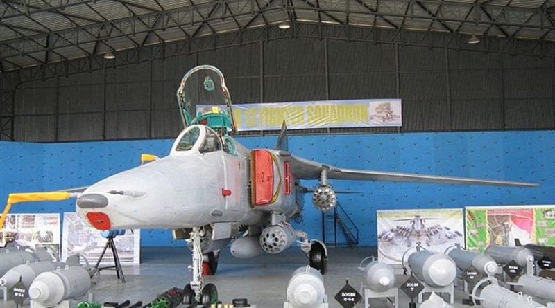 A Mig-27 of Sri Lanka's No. 12 Squadron. Photo by Chamal Pathirana, Wikiepedia Commons.