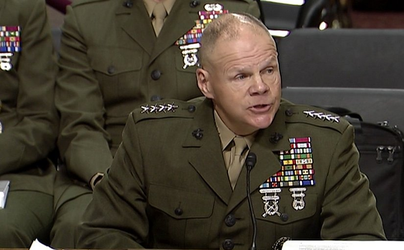 Marine Commandant Provides Senate Testimony on Marines United. Photo Credit: Screenshot of DoD video.