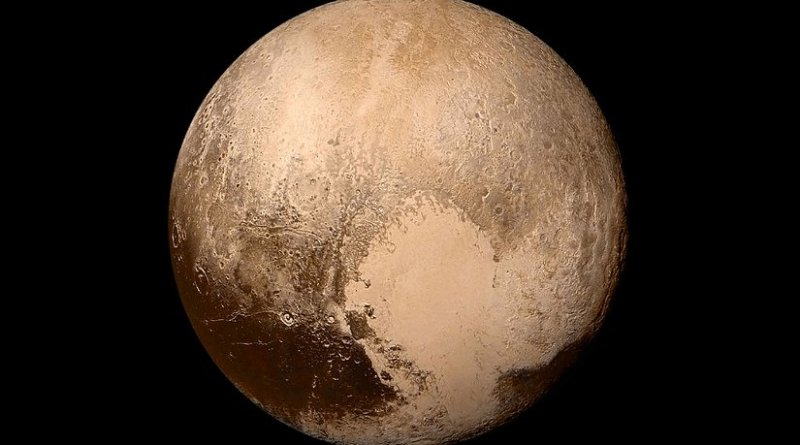 Pluto. Photo Credit: NASA / Johns Hopkins University Applied Physics Laboratory / Southwest Research Institute, Wikipedia Commons.