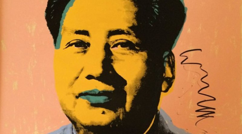 A portrait of Mao Zedong by Andy Warhol. Source: Wikipedia Commons.
