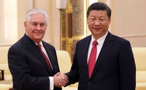 U.S. Secretary of State Rex Tillerson shakes hands with China's President Xi Jinping. Photo Credit: US State Department.