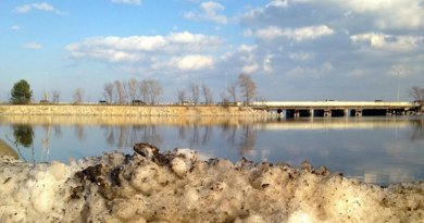 Lake Monona, in Madison, Wis. is experiencing rising salinity due to nearby roadways and road salt application. Credit Hilary Dugan