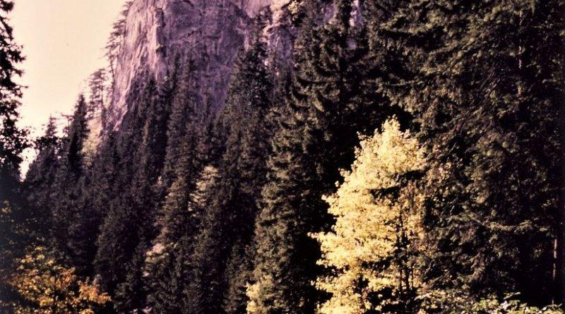 Site of the Korićani Cliffs massacre on Mount Vlašić in central Bosnia and Herzegovina. Photo by Yahadzija, Wikipedia Commons.