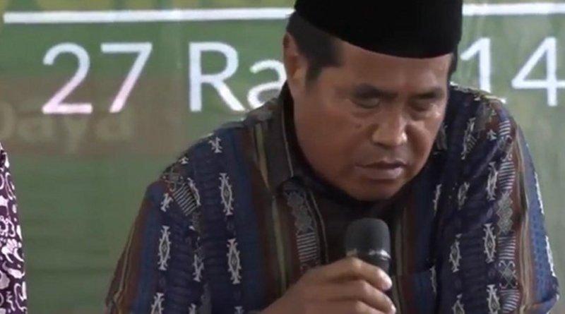 Indonesian reciter Sheikh Ja'afar Abdulrahman. Source: Screenshot from video.