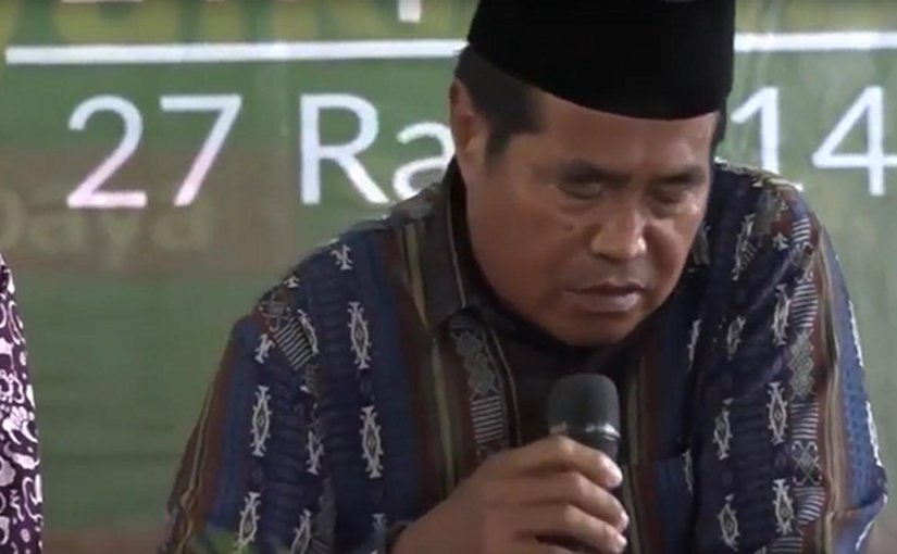 Indonesian reciter Sheikh Ja'afar Abdulrahman. Source: Screenshot from video.