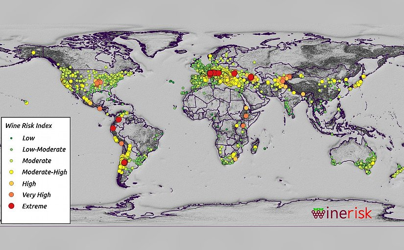 This is a global risk index for wine regions. Credit Photo: James Daniell / KIT