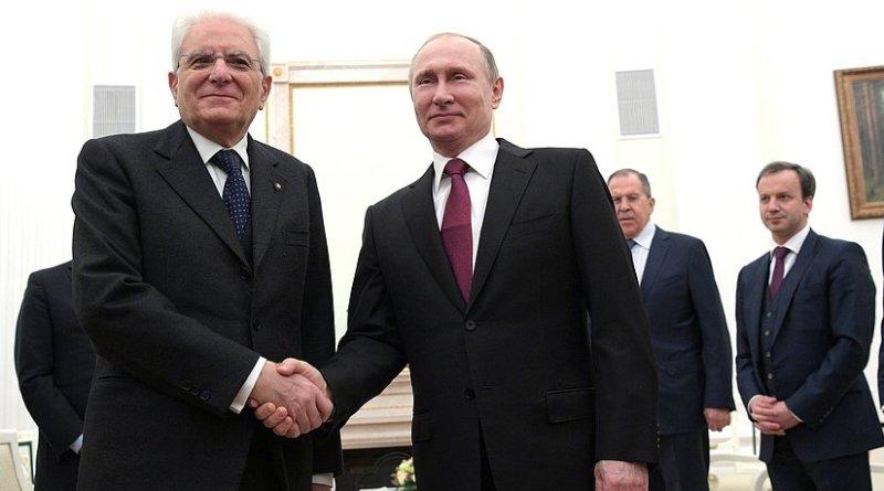 President of Italy Sergio Mattarella meets Russia's President Vladimir Putin. Photo Credit: Kremlin.ru