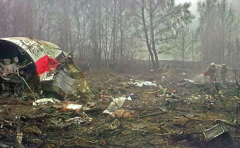 Wreckage from 2010 Polish Air Force Tu-154 crash. Photo Credit: Wikimedia Commons.