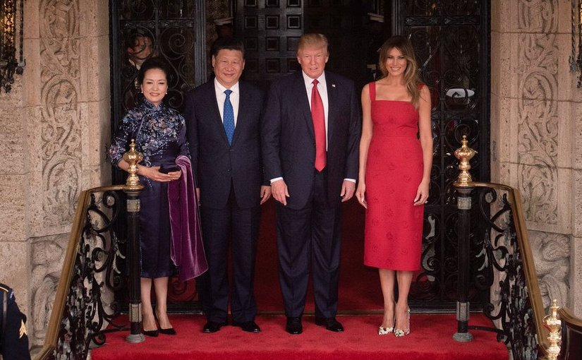 China's President Xi Jinping and his wife Madame Peng Liyuan with US President Donald Trump and First Lady Melania Trump. Photo Credit: White House.