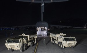 "U.S. Forces Korea continued its progress in fulfilling the South Korea-U.S. alliance decision to install a Terminal High Altitude Area Defense, or THAAD, on the Korean Peninsula as the first elements of the THAAD system arrived in South Korea, March 6, 2017. ""The timely deployment of the THAAD system by U.S. Pacific Command and the secretary of defense gives my command great confidence in the support we will receive when we ask for reinforcement or advanced capabilities,"" said Army Gen. Vincent K. Brooks, U.S. Forces Korea commander. Army photo"