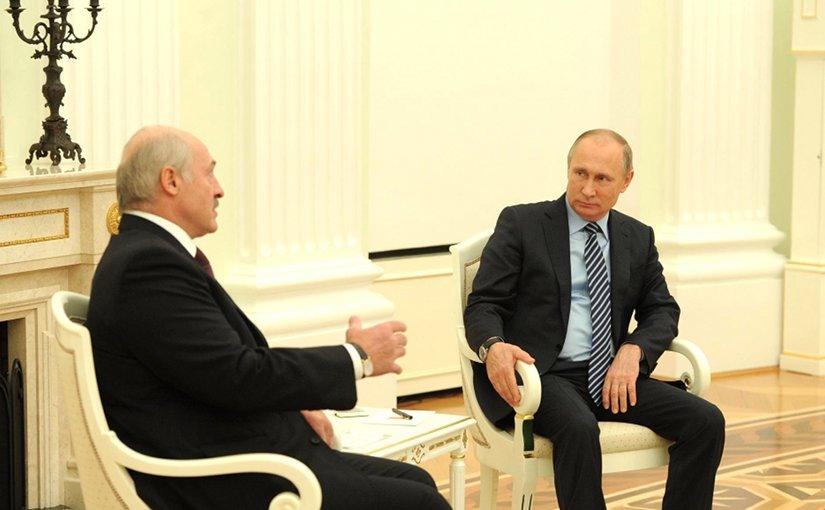 Russia's President Vladimir Putin meets with President of Belarus Alexander Lukashenko. File Photo: Kremlin.ru.