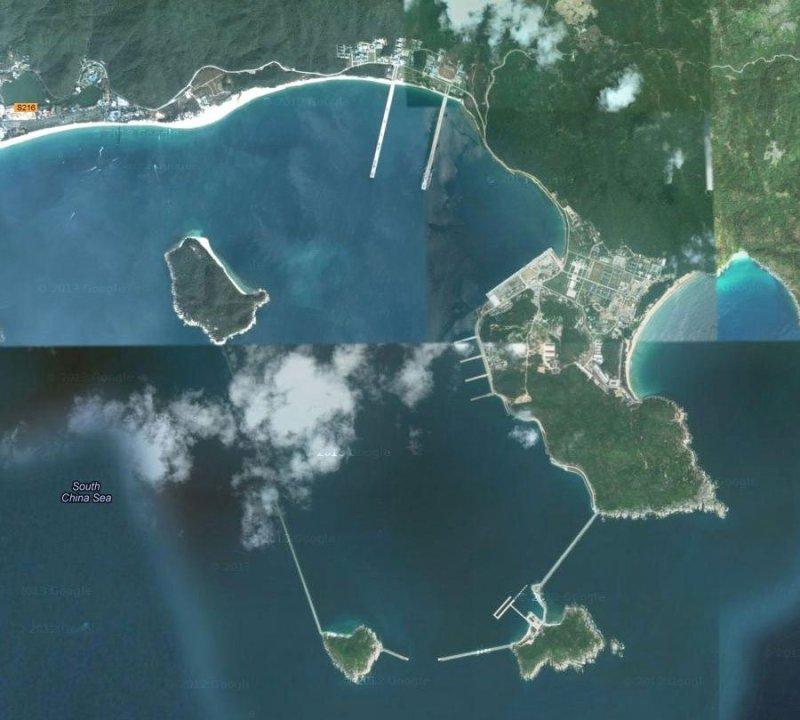 China's new naval base for them that runs along Yalong Bay, near the South China Sea.