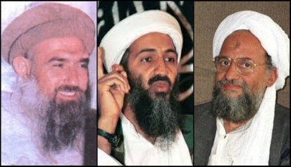 In 1985, MB operatives Abdullah Azzam (L), bin Laden, and Ayman Zawahiri (R) founded MAK in Pakistan, which evolved into al-Qaeda. The Amman MAK recruited Abu Musab Zarqawi, who founded Jama'at al-Tawhid wa-l-Jihad, which evolved into al-Qaeda in Iraq and eventually into ISIS.