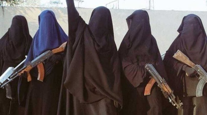 Female members of Islamic State. Photo supplied by Institute for Strategic Dialogue via ICSVE.org