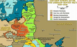 Eastern Europa after the Soviet-German Pact. Source: Spiridon Ion Cepleanu, Wikimedia Commons