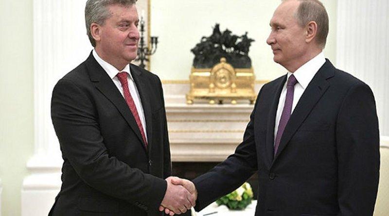 Macedonia's President George Ivanov meets Russia's President Vladimir Putin. Credit: Kremlin.ru