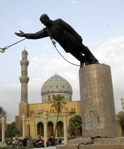 Statue of Saddam being toppled in Firdos Square after the invasion. Photo Credit: US MIlitary.