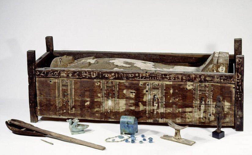 Sarcophagus of Tadja, Abusir el-Meleq. Credit bpk/Aegyptisches Museum und Papyrussammlung, SMB/Sandra Steiss
