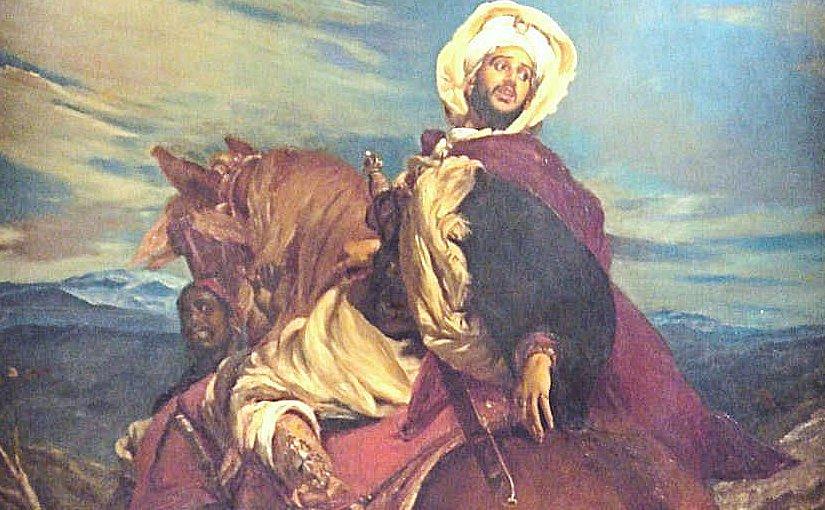 The farewells of King Boabdil at Granada (Les Adieux du roi Boabdil à Grenade), Alfred Dehodencq (1822–1882).