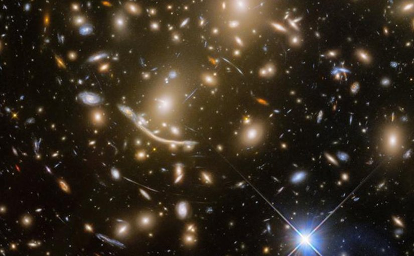 With the final observation of the distant galaxy cluster Abell 370 -- some five billion light-years away -- the Frontier Fields program came to an end. Credit NASA, ESA/Hubble, HST Frontier Fields