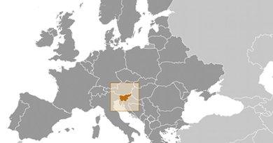 Location of Slovenia. Source: CIA World Factbook.