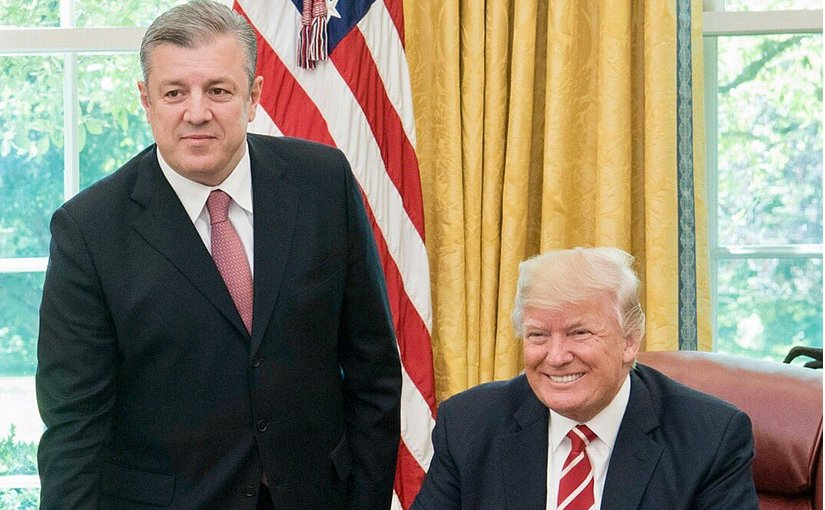 Georgia's Prime Minister Giorgi Kvirikashvili meets with US President Donald Trump at the White House. Photo Credit: White House.