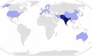 South Asian Association for Regional Cooperation (SAARC) member states, with Observer Members in light blue. Source: Wikipedia Commons.