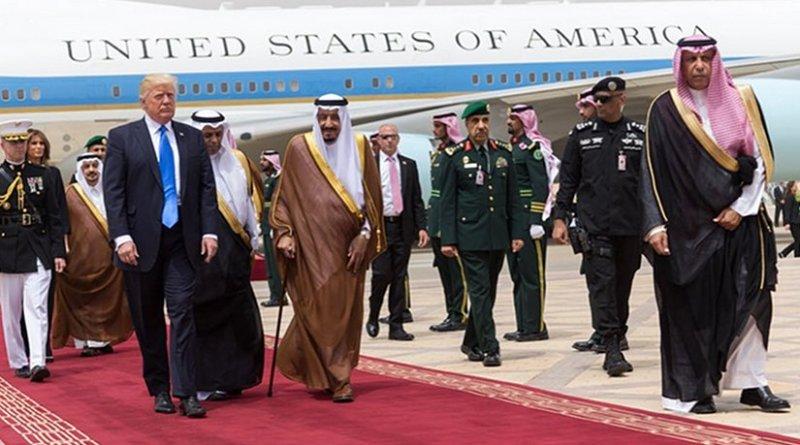 Saudi Arabia's King Salman greets US President Donald Trump. Photo Credit: White House