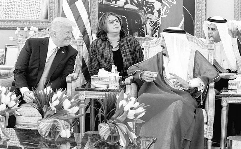 US President Donald Trump meets with Saudi Arabia's King Salman in Riyadh. Photo Credit: White House.