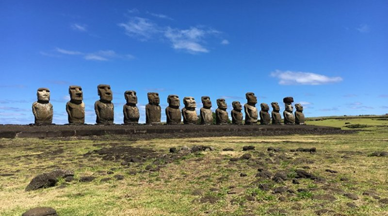 Easter Island / Ahu Tongariki. Photo by Alexia Rauen, October 28, 2016.