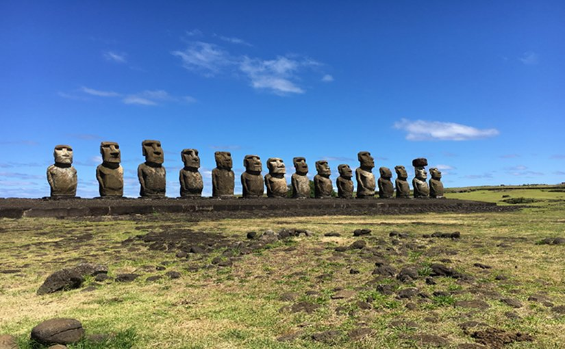 Easter Island / Ahu Tongariki. Photo by Alexia Rauen, October 28, 2016.