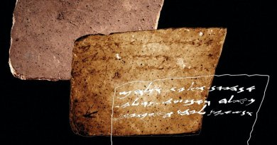 This is the inscription found on reverse of ostraca at Arad. Credit American Friends of Tel Aviv University (AFTAU)