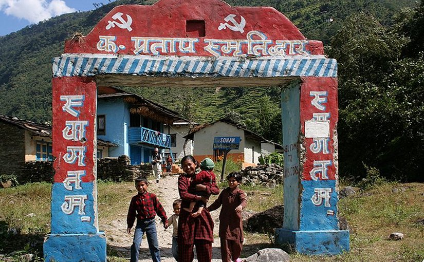 A family in maoist-controlled valley in Nepal. Photo by Pavel Novak, Wikimedia Commons.