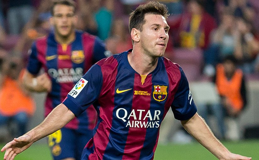 FC Barcelona soccer player Lionel Messi. Photo by L.F.Salas, Wikipedia Commons.