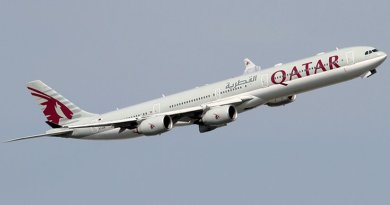 A Qatar Airways Airbus A340-600. Photo by Konstantin von Wedelstaedt, Wikipedia Commons.