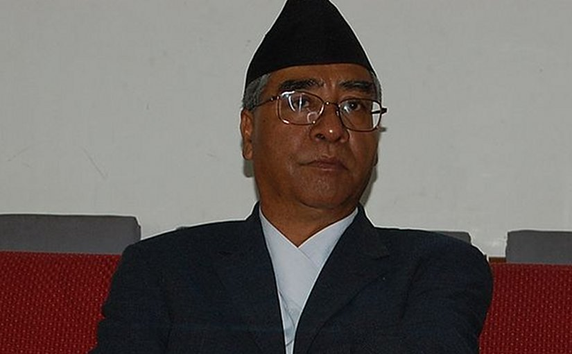 Nepal's Sher Bahadur Deuba. File photo by Ashishlohorung, Wikimedia Commons.